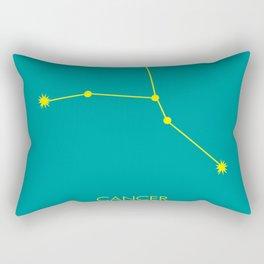 CANCER (YELLOW-TEAL STAR SIGN) Rectangular Pillow