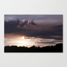 Sunset Rays Canvas Print
