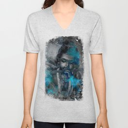 Krishna The mischievous one - The Hindu God Unisex V-Neck