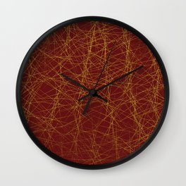 Line Me Up in Red Wall Clock