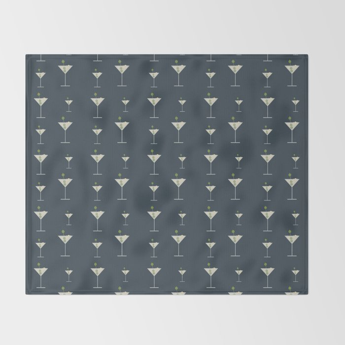 Martini Bianco Throw Blanket