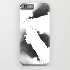 Watercolor marble, black and white Slim Case iPhone 6s