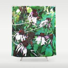 Watercolor Echinacea Shower Curtain