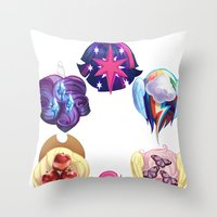 mlp Throw Pillows featuring MLP: Altogether Now by lolbatty