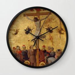 "Fra Angelico (Guido di Pietro) ""The Crucifixion"" ca. 1420–23 Wall Clock"
