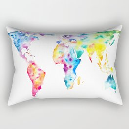 Gall–Peters projection Rectangular Pillow