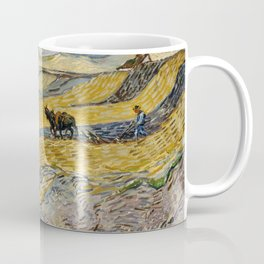 "Vincent van Gogh ""Enclosed field with ploughman"" Coffee Mug"