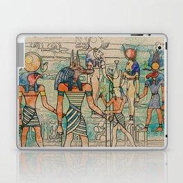 Egyptian Gods on canvas Laptop & iPad Skin