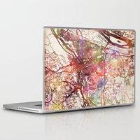 portland Laptop & iPad Skins featuring Portland by MapMapMaps.Watercolors