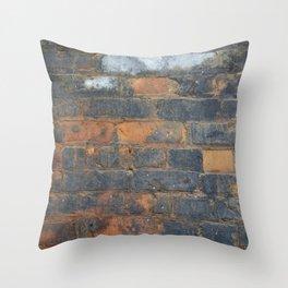 Burned Brick Throw Pillow