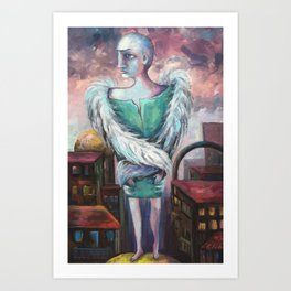 UNEMPLOYED ANGEL Art Print