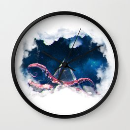 Space octopus Wall Clock