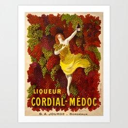 Vintage poster - Liqueur Cordial-Medoc Art Print