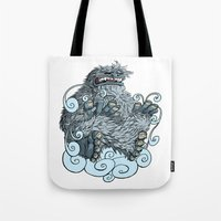 yeti Tote Bags featuring Yeti by David Comito