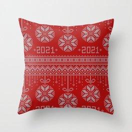 Hello 2021 - Happy New Year! Throw Pillow