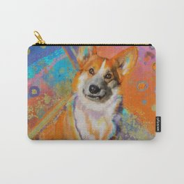Colorful Corgi Painting Carry-All Pouch