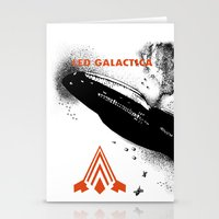 battlestar galactica Stationery Cards featuring LED GALACTICA by ClevaGurl