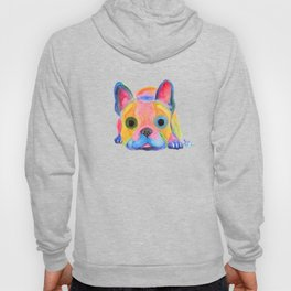 Nosey Dog French Bulldog ' AM I FRENCH ? ' by Shirley MacArthur Hoody