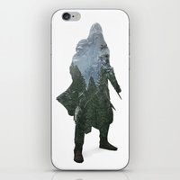 assassins creed iPhone & iPod Skins featuring Assassins Creed - Woodland 2 by Fatih