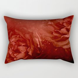 Wonderful flowers in soft red colors Rectangular Pillow
