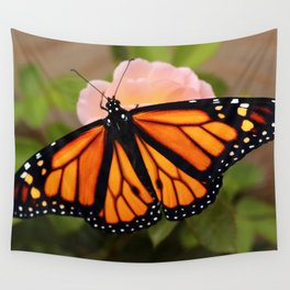 Monarch on Rose Wall Tapestry