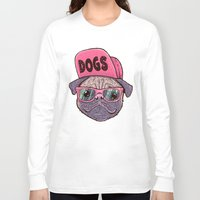 dogs Long Sleeve T-shirts featuring Dogs by Lime
