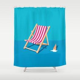 SUMMER DECK CHAIR  Shower Curtain