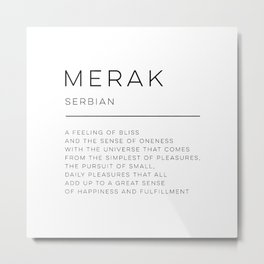 Merak Definition Metal Print