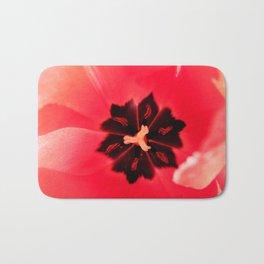 Pink Tulip Inside Photography Print Bath Mat