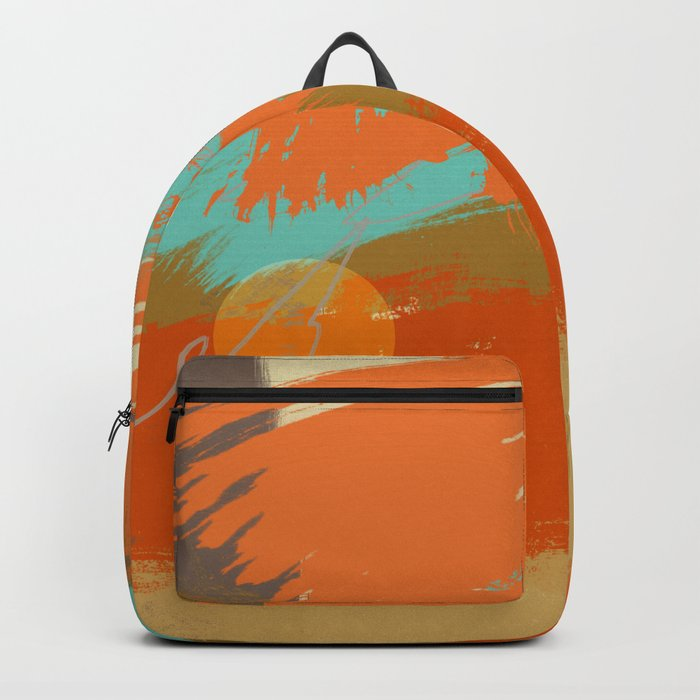 Secret Places, Abstract Landscape Art Backpack