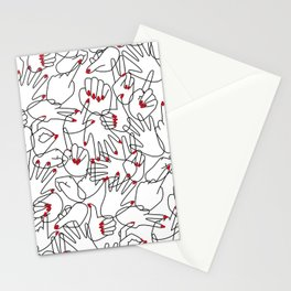 HANDS / pattern pattern Stationery Cards