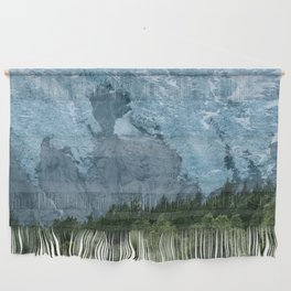 Mystic forest with Glacier in the Background Wall Hanging