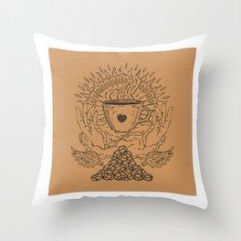 Saint Coffee Throw Pillow