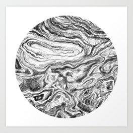 Point Lobos Stone Circle Art Print