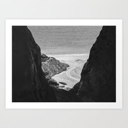 Beach between rocks - Conde - PB, Brasil Art Print