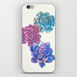 Vibrant Succulents  iPhone Skin
