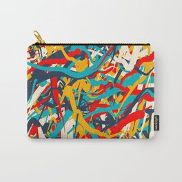 Abstract Colorful Lines Art Carry-All Pouch