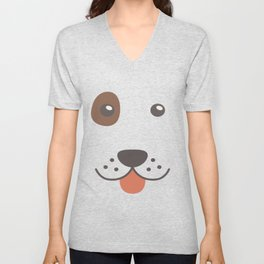 Dog Emoji Bloodhound Gift Idea Unisex V-Neck