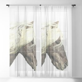 Horse Profile Sheer Curtain