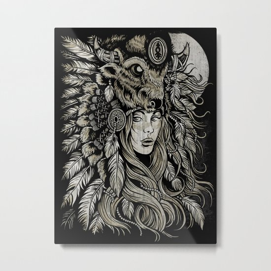 Spirit of the Buffalo Metal Print