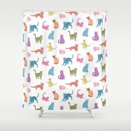 Colourful cats pattern Shower Curtain