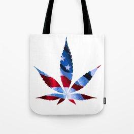 E Cannabis Unum - Proud American Marijuana Smoker Tote Bag