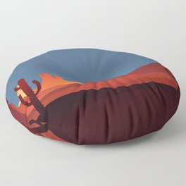 Southwestern Scene Floor Pillow