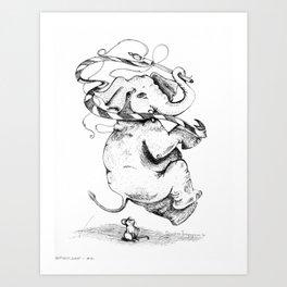 Hop. Skip. Jump.  - Inktober #10 Art Print