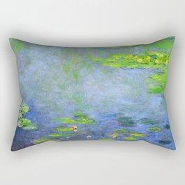 Water Lillies - Claude Monet (ufo green) Rectangular Pillow