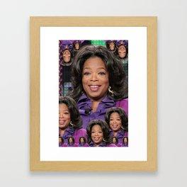 Oprah CNN collage Framed Art Print