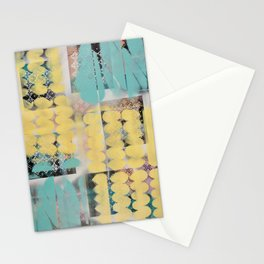 Abstract yellow and blue Stationery Cards