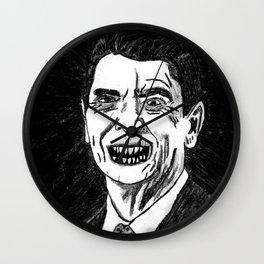 40. Zombie Ronald Reagan Wall Clock