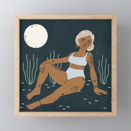 moonbathing Framed Mini Art Print