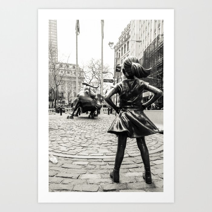 Fearless Girl & Bull - NYC Kunstdrucke